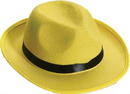 Forum Novelties FM-67588 Hat Yellow Fedora Adult