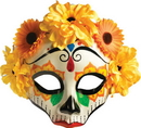 Forum Novelties FM-74716 Day Of Dead Female Mask W Flws