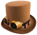 Forum Novelties FM-75327 Steampunk Hat W/Goggles Brown