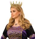 Morris Costumes FM-76046 Royal Queen Crown Gold