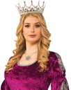 Forum Novelties FM-76047 Royal Queen Crown Silver