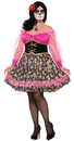 Morris Costumes FM-76072 Day Of The Dead Lady Plus