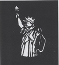 Morris Costumes FP-130 Stencil Statue Lbrty Stainls