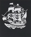Morris Costumes FP-54 Stencil Sailing Ship Early Ame