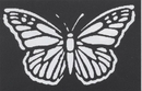 Morris Costumes FP-59 Stencil Butterfly Brass