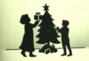 Morris Costumes FP-94 Stencil Christmas Tree Family