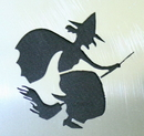 Morris Costumes FP-96 Stencil Witch Stainless