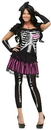 Fun World FW-112564SD Sally Skelly Adult Sm Md 2-8