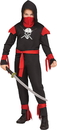 Morris Costumes FW-112652BKSM Skull Ninja Black Child Small