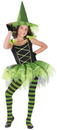 Fun World FW-114182SM Ballerina Witch Green Child Sm