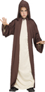 Morris Costumes FW-118272BN Hooded Robe Brown Ch Os