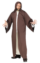 Morris Costumes FW-118274BN Hooded Robe Brown Ad Os