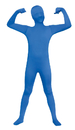 Fun World FW-131262BUM Skin Suit Blue Chld 8-10