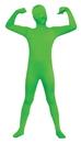 Fun World FW-131262GR Skin Suit Green Child 12-14