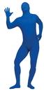 Fun World FW-131263BU Skin Suit Blue Teen/Ad Sm