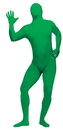 Fun World FW-131263GR Skin Suit Green Teen/Ad Sm