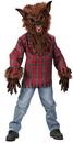 Fun World FW-5813BRLG Werewolf Child Large Brown