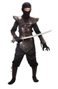 Fun World FW-5920RDLG Ninja Fghtr Lethr-Look Lg Ch R