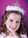 Fun World FW-8128PKD Tiara Marabou Pink Diamond