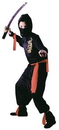 Fun World FW-8707MD Black Ninja Child Medium