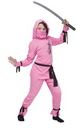 Fun World FW-8708PKLG Pink Ninja Child Large
