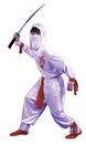 Fun World FW-8708SM White Ninja Dlx Child Sml