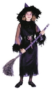 Fun World FW-8762BKMD Feather Witch Blk Child Med