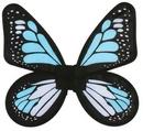 Fun World FW-90078BT Wings Butterfly Satin Ad Blue/