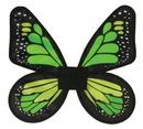 Fun World FW-90078GL Wings Butterfly Satin Ad Green