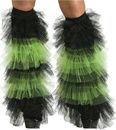 Fun World FW-90215GR Boot Covers Tulle Ruffle Bk Gr