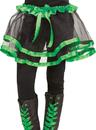 Fun World FW-90253GR Ribbon Tutu Child Green