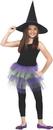 Fun World FW-90254PRG Glitter Tutu Child Purple Gree