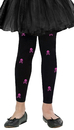 Morris Costumes FW-90333BLG Tights Footless Bones Lrg 8-14