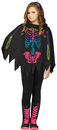Morris Costumes FW-90395C Poncho Skeleton Color Ch Up To