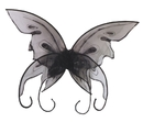 Fun World FW-90442BK Wings Butterfly Black