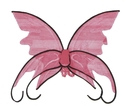 Fun World FW-90442PK Wings Butterfly Pink W/Blk Trm