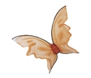 Fun World FW-90456OR Wings Butterfly Orng Hot Color