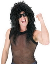 Fun World FW-92227BK Headbanger Wig Black