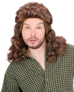 Fun World FW-92548BN Mullet Perm Wig Brown