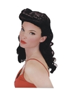 Fun World FW-92585 Pin Up Babe Wig Black