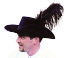Morris Costumes GA-03MD Cavalier Hat Quality Medium