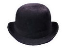 Morris Costumes GA-102LG Derby Hat Black Felt Large
