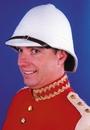 Morris Costumes GA-113WT Pith Hat British White Qlty