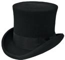Morris Costumes GA-15BKMD Tall Hat Black Medium