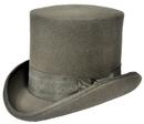 Morris Costumes GA-15GYLG Tall Hat Grey Large