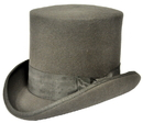 Morris Costumes GA-15GYMD Tall Hat Grey Medium