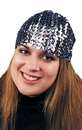 Morris Costumes GA-67BK Cloche Hat Sequin Black