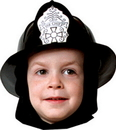 Rasta Imposta GC-69BK Fire Fighter Helmet Child Blk