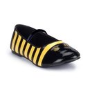 Morris Costumes HA-119BYLG Shoes Bee Flat Chld Lg Bk Yw