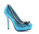 Morris Costumes HA-122BU7 Shoes Princess Glitter Bu Sz 7